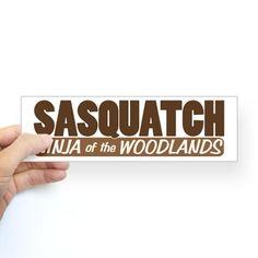 Sasquatch Ninja Bumper Sticker #Cafepress #Bigfoot #MythicCreatures