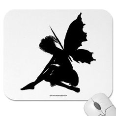 Fairy Silhouette Pose 30 Mouse Mats