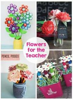15 ideas for Teacher Appreciation - Printables, gifts, flowers and door ideas!