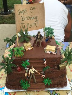 Uncharted Birthday Cake Birthday Cakes, Birthday Ideas, Birthday Parties, Indiana Jones Cake, Happy 8th Birthday, Party Themes, Party Ideas, Gabriel, Cake Decorating
