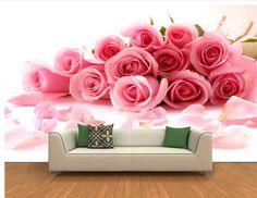 Pas cher 3D fond d'écran personnalisé murale beauté non   tissé romantique rose rose 3 d fond peintures murales papier peint, Acheter  Papiers peints de qualité directement des fournisseurs de Chine:      Bienvenue à parcourir et choisir et acheter.          Papier peint est personnalisé             Être sûr de laisse