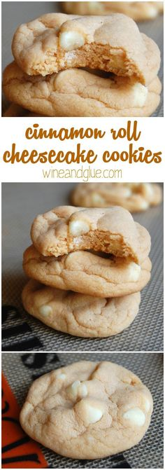 Cinnamon Roll Cheesecake Cookies that taste like they came from a bakery, but they have only a few ingredients and come together super easily!