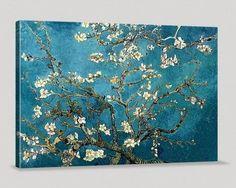 Large Wall Art Van Gogh Blossoming Almond Tree Canvas Print, Van Gogh Reproduction Canvas Printing