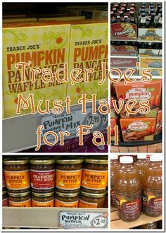 Trader Joe's Must Haves for Fall-@Reese Wulf for our thanksgiving shopping trip!
