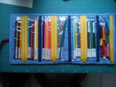 estojo porta lápis de cor