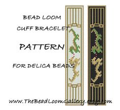 Bead Loom Cuff Bracelet Pattern Vol.11 - Dragon Bracelet - PDF File PATTERN via Etsy