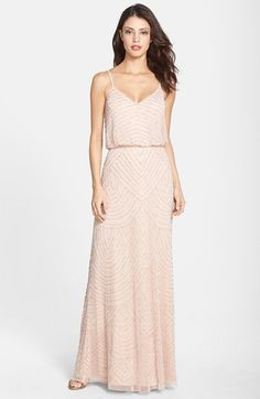 Adrianna Papell Embellished Blouson Gown available at #Nordstrom
