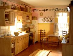 Country Style - Kitchen. Left View wow does this look like a dollhouse