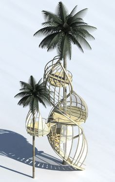 Treehouses in Paradise Competition: Taking something from a SCAM,Courtesy of Gensler