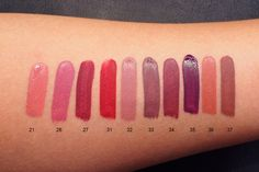 Inglot What a Spice swatches