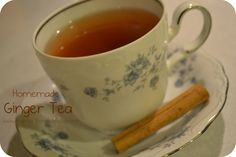 Homemade ginger tea- good for nausea