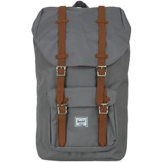 Herschel Supply Grey Little America Backpack (6,765 PHP) ❤ liked on Polyvore