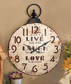 Special Offers - Live Laugh Love Metal Wall Clock - In stock & Free Shipping. You can save more money! Check It (September 23 2016 at 03:55PM) >> http://wallclockusa.net/live-laugh-love-metal-wall-clock/