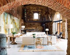 Brick Living Room