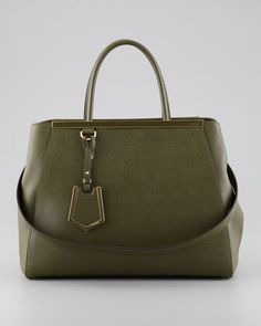 2Jours Medium Tote Bag, Olive by Fendi at Bergdorf Goodman.
