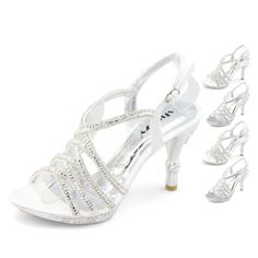 Aliexpress: Popular Silver Diamante Sandals in Shoes