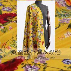 Yellow Silk Fabric 120cm Wide