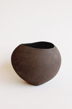 Yasha Butler Lithic Sculptural Ceramic Vessel Dark