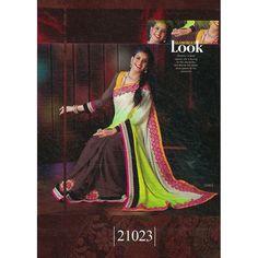 #Suruchi #Fusion 3 #Braso #Georgette Multi Color #Saree  shop now--->>> http://goo.gl/QopJbK