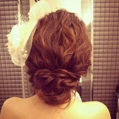 #ヘアアレンジ#ヘアスタイル#ヘアセット#ルーズアレンジ #ヘア#髪型#花嫁#結婚式#シニヨン#ヘッドドレス #ルーズアレンジ #ウェディング#お色直し#updo #ヘッドドレス #bridal#wedding#hair#hairarrange#ルーズ