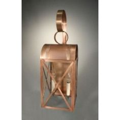 Northeast Lantern Adams 1 Light Outdoor Wall Lantern Finish: Dark Brass, Shade Type: Clear Seedy