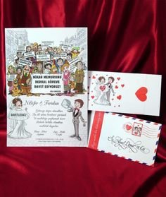Düğün, Sünnet İçin Karikatürlü Davetiye Örnekleri, Modelleri, Fikirleri