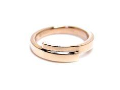 AMBRACE K18 pink gold ring simple design レディース リング 指輪 シンプル デザイン ピンキーリング ピンクゴールド
