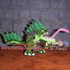 Lizardman Miniature with Spear by ChenilleMacabre on Etsy! Buy him today!