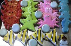 Under the Sea Themed Sugar Cookies
