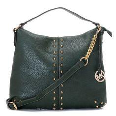 ec634933710f MICHAEL Michael Kors Uptown Astor Large Shoulder Bag Hunter Green Leather  Mod Fashion, Fashion Heels