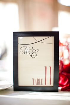 Obsessed with monograms. This was on all of our table numbers, programs and escort cards.