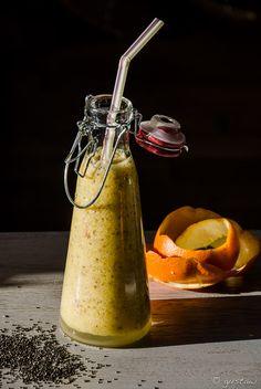 Oczyszczające imbirowo-cytrusowe smoothie. Idealny detoks po Świętach. #smoothie#detox#ginger