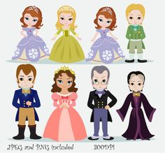 The Royal Family Digital Clipart for Personal and Commercial Use /INSTANT DOWNLOAD on Etsy, $5.00