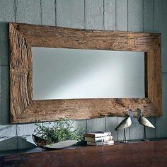 Spiegel mit Rahmen Teak Altholz Breite 180 cm Pharao24
