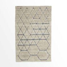 Carla Peters Geo Line Wool Shag Rug | West Elm