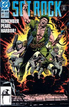 cover by Joe Kubert Book Cover Art, Comic Book Covers, Comic Books Art, Comic Art, Book Art, War Comics, Dc Comics Art, Remember Pearl Harbor, Joe Kubert