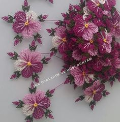 Needle Tatting, Baby Knitting Patterns, Quilling, Diy And Crafts, Floral Wreath, Fabric Flowers, Amigurumi, Tejidos, Needlepoint