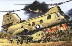 Boeing-Vertol CH-46 Sea Knight in Vietnam