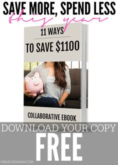 Saving money doesn't have to be difficult or time consuming. This free eBook will help you figure out 11 Ways to Save $1,100 or more this year!