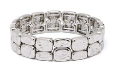 Double Bar Silver Bracelet. Item #PB0261RD $16  Available at Impulse Gifts 812.481.2880 We ship daily.   https://www.facebook.com/ImpulseJasper