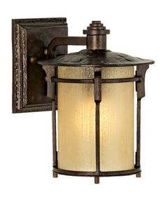"""Arroyo Park Collection 10"""" High Outdoor Wall Light by Unknown. $129.99. From the Arroyo Park Outdoor Collection, this wall light features a bronze finish and cream frosted textured glass. A great look to warm porch or patio areas. From Franklin Iron Works®.. Save 33% Off!"""