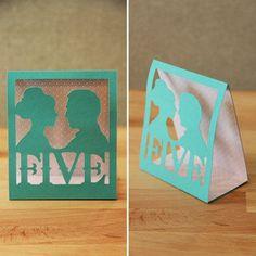 8 DIY wedding table number ideas - www.wee-do.com   Wee Do Edinburgh #weddings