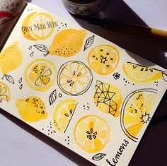 Ohn Mar Win ... Lemons Watercolor & marker