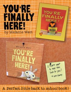 This is the cutest back to school book EVER! You're Finally Here by Melanie Watt is the perfect little book for lots of first week fun! Visit this post to see all we did with this book!   Around the Kampfire