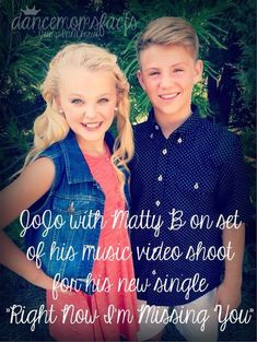 Jojo Siwa - Matty B - music video - single - Right now I'm misssing you - dance moms - fact: