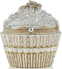 Judith Leiber jeweled cupcake purse.- Perfect for the wedding day <3