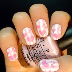 Happy Valentine's Day! Nail-Art by Amy of 'A Different Shade of Polish's' blog - tumblr(2014)<3<3CUTE<3<3