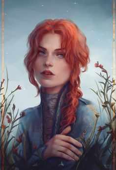 Redhead Characters, Fantasy Characters, Female Characters, Fictional Characters, Fantasy Portraits, Character Portraits, Fantasy Women, Fantasy Girl, Female Character Design