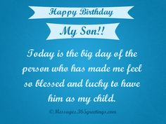 Birthday Wishes for Son - Messages, Wordings and Gift Ideas