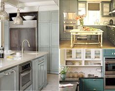 Gray Painted Kitchen Cabinets | photo credits image 1 image 2 image 3